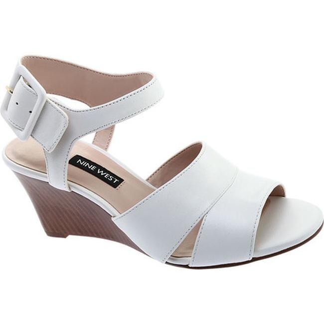 Vahan Wedge Sandal White Leather