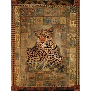 ''Leopard'' by Rob Hefferan Animals Art Print (19.75 x 15.75 in.)