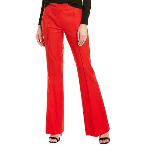 Rachel Zoe Womens Dress Pants Red Size 2 Wide Leg Pintuck Tab-Front