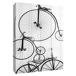 """PTM Images 9-148515  PTM Canvas Collection 10"""" x 8"""" - """"Classic Rides"""" Giclee Bicycles Art Print on Canvas"""