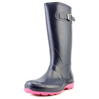 Kamik Olivia Women Round Toe Synthetic Blue Rain Boot