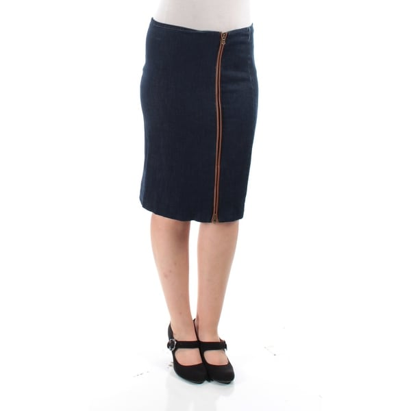 dc864c3fa9 Shop Ralph Lauren Womens Navy Knee Length Skirt Size: 10 - Free Shipping On  Orders Over $45 - Overstock - 22645089