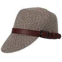 Mad Style Tan Banded Straw Railroad Hat