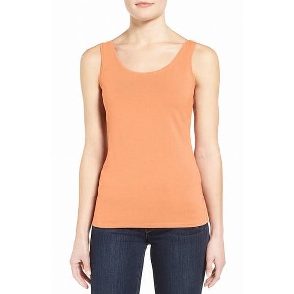 Nic + Zoe Orange Women's Size Large L Scoop Neck Tank Cami Top
