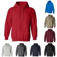Sport Hooded Top Long Sleeve Men Solid Color Sweatshirt Casual Drawstring Hoodie