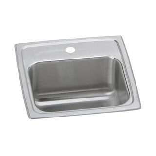 """Elkay BLR15 Gourmet 15"""" Single Basin Drop In Stainless Steel Bar Sink"""