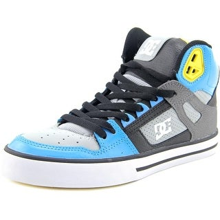 DC Shoes Spartan High WC Men Round Toe Leather Gray Skate Shoe