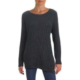 Two by Vince Camuto Womens Pullover Sweater Cable Knit Ribbed Trim