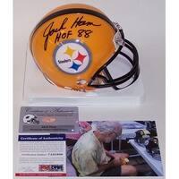 Jack Ham Autographed Hand Signed Steelers Mini Helmet  PSADNA