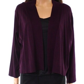 Calvin Klein NEW Aubergine Purple Womens Size 2X Plus Shrug Sweater