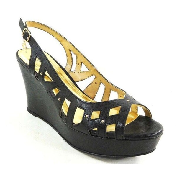 Thalia Sodi Womens Ebbiep Open Toe Special Occasion Platform, Black, Size 6.5