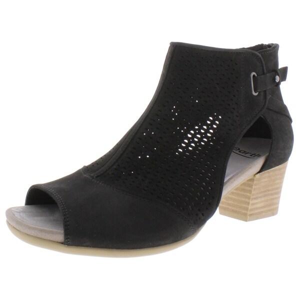 Cut Out Peep Toe - Black Leather