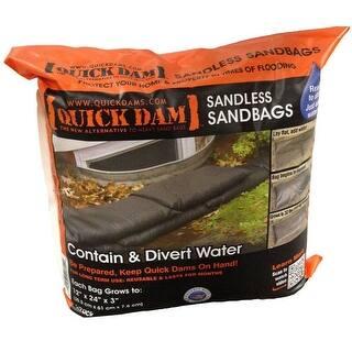 "Quick Dam QD1224-6ES Sandless Sandbags, 12"" x 24"" x 3"", 6 Bag|https://ak1.ostkcdn.com/images/products/is/images/direct/37c73a157e822ad4782a869f91defd54e2f235e9/Quick-Dam-QD1224-6ES-Sandless-Sandbags%2C-12%22-x-24%22-x-3%22%2C-6-Bag.jpg?impolicy=medium"