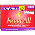 FeverAll Infants' 80 mg Rectal Suppositories 6 Each - Thumbnail 0