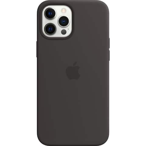 Apple iPhone 12 and iPhone 12 Pro Silicone Case with MagSafe - Black