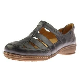 Naturalizer Womens Malta Leather Contrast Stitch Fisherman Sandals - 7.5 extra wide (e+, ww)