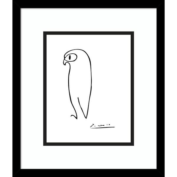 Porch & Den Pablo Picasso 'Owl' Framed Art Print. Opens flyout.