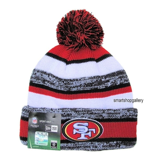 Shop New Era NFL 2014 Sideline Sport Knit Pom Beanie - San Francisco 49ers  - Free Shipping On Orders Over  45 - Overstock - 18796101 c3ccdafc2