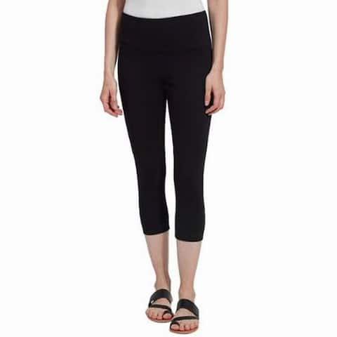 Lysse Womens Leggings Black Size Small S High Rise Stretch Capri Knit