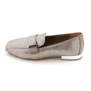 Donald J Pliner Womens Ellie Leather Square Toe Loafers