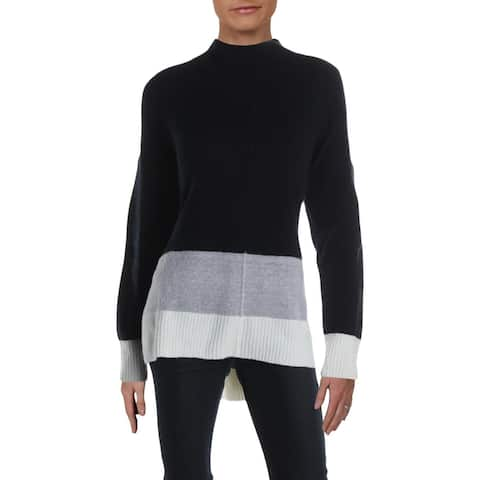 Matty M Womens Pullover Sweater Colorblock Striped - Midnight