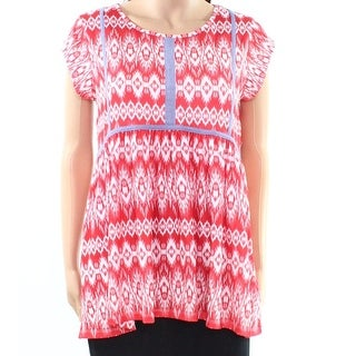 7046be4d6a9 Shop THML NEW Red Women s Size Small S Printed Hi-Lo Babydoll Knit Top -  Free Shipping On Orders Over  45 - Overstock - 20767342