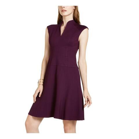 NANETTE LEPORE Purple Cap Sleeve Above The Knee Dress 10