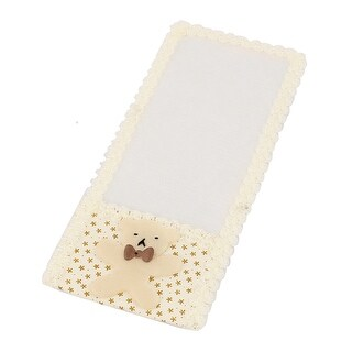 Dustproof Lace Trim Remote Control Case Cover TV Air Condition Protector Beige