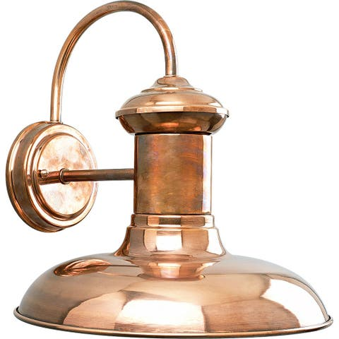 """Brookside Collection Copper Large One-Light Wall Lantern - 14.000"""" x 13.750"""" x 13.250"""""""