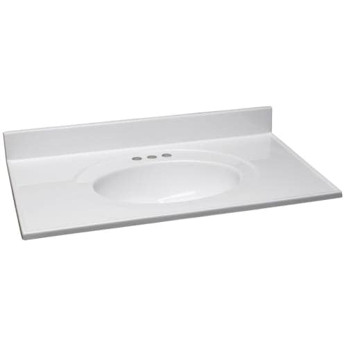Design House 550442 37 Marble Drop In Vanity Top With Integrated Sink And 3 Fau Free Shipping Today 25502174
