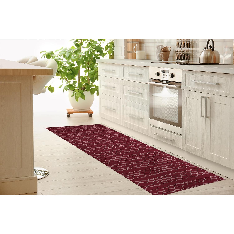 Berber Stripe Wine Kitchen Mat By Kavka Designs Overstock 30585437