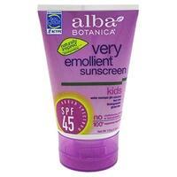 Alba Botanica Very Emollient, Kids Sunscreen SPF 45, 4 Ounce