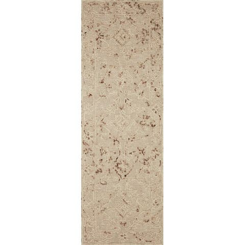 Alexander Home Diana Floral 100% Wool Hooked Area Rug