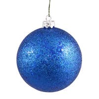 "6"" Blue Sequin Ball Drilled 4/Bag"
