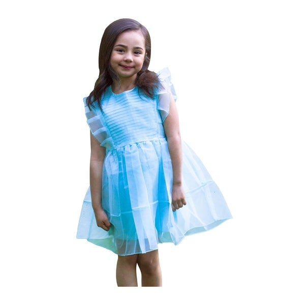 226e24594 Shop Girls Light Blue Angel Sleeve Eloise Junior Bridesmaid Dress - Free  Shipping On Orders Over $45 - Overstock - 23085516