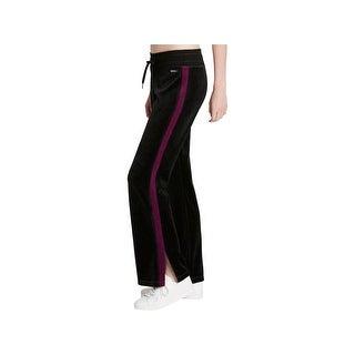 Calvin Klein Performance Womens Track Pants Velour Workout