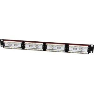 Startech C6panel24 24 Port 1U Rackmount Cat Cable 6 110 Patch Panel Black