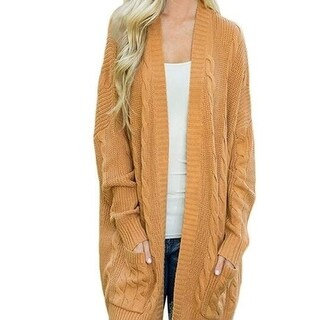 Link to Womens Sweater Open Front Knit Texture Long Cardigan Sweater Coat Similar Items in Women's Sweaters