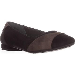 Rialto Autumn Almond-Toe Ballet Flats, Black