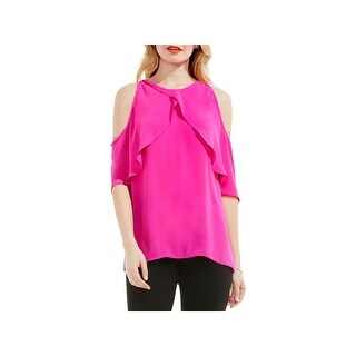 Vince Camuto Womens Blouse Chiffon Cross-Over