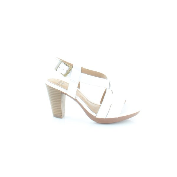 dc0a404b318 Shop Clarks Jaelyn Fog Women s Sandals White - 5 - Ships To Canada ...
