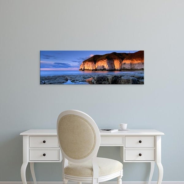 Easy Art Prints Panoramic Images's 'Clouds Over The Sea, Thornwick Bay, Yorkshire, England, United Kingdom' Canvas Art
