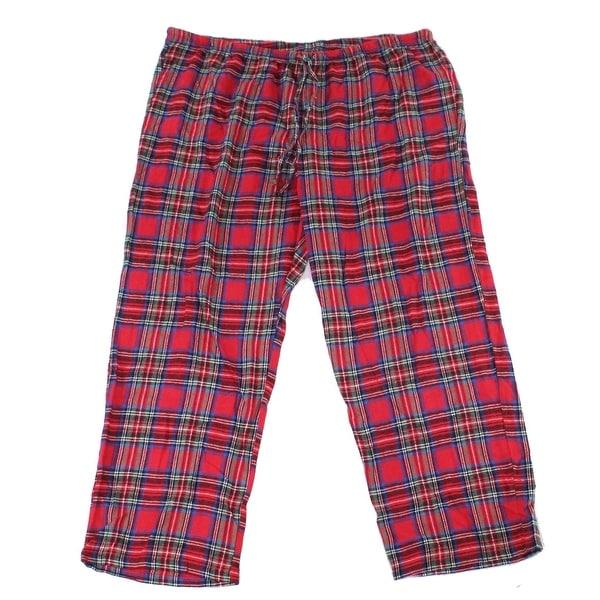 Pajamagram Womens Sleepwear Red Size 2X Plus Lounge Pants Plaid Print. Opens flyout.