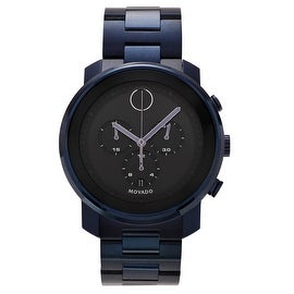 Movado Men's 3600279 'Bold' Blue Ion-Plated Chronograph Bracelet Watch