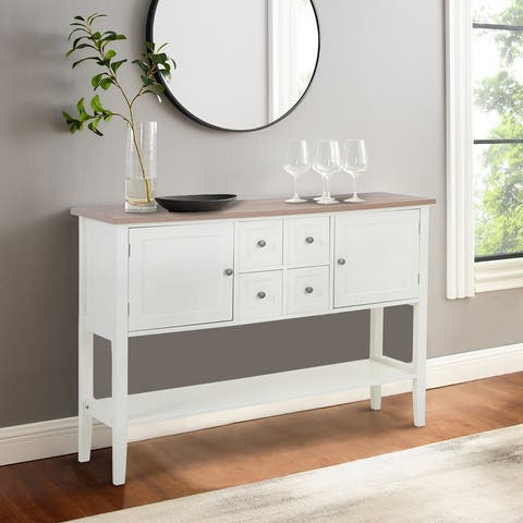 Sophia & William Buffet Sideboard Server Storage Cabinet Organizer with 4 Drawers