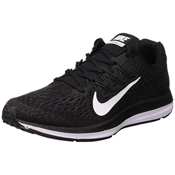 40e8e33ef29e2 Shop Nike Men s Air Zoom Winflo 5 Running Shoe Black White-Anthracite -  Free Shipping Today - Overstock - 27125385