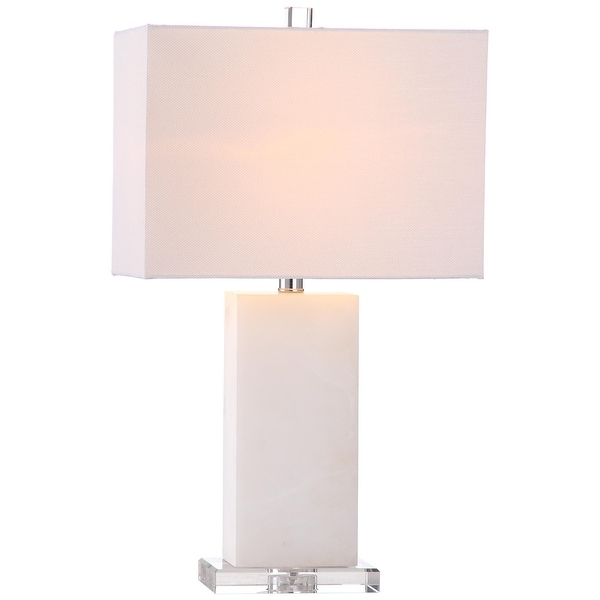 """SAFAVIEH Lighting 24-inch Martin Marble Table Lamp - 14""""x8 """"x24"""". Opens flyout."""