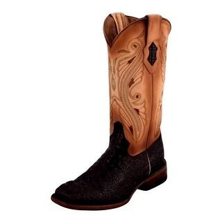 Ferrini Western Boots Womens Caiman Print Square Nicotine