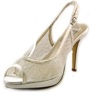 Touch Ups Lydia Peep-Toe Canvas Slingback Heel