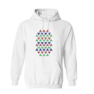 Tricolor Triangle Patter Graphic Men's Hoodie